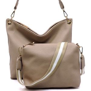 Handbags - Vegan Leather Taupe Handbag